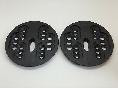 New Burton Snowboard 4 Hole & ICS Binding Mounting Plates Disc's Disk's Black