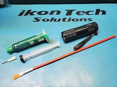 Trace Pcb Bga Uv Solder Mask Repairing 10ml W Syringe Light Brush Plunger Paint