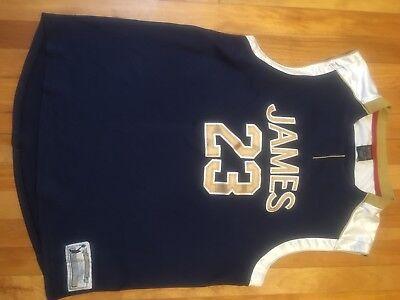 Nike Lebron James High School Retro 23 Navy Blue Throwback Jersey Medium (Navy Blue Throwback Jersey)