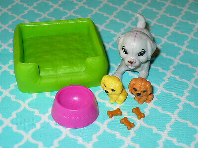 Mattel Barbie Doll Accessory Lot MOMMA DOG & PUPPIES Accessories Dream House