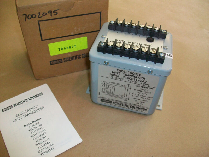 Scientific Columbus Watt Transducer XL5C5112A2   NEW IN BOX
