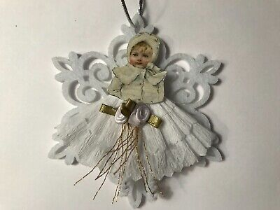 Paper doll Vintage inspired Christmas ornament item# 39 Victorian  snowflakes