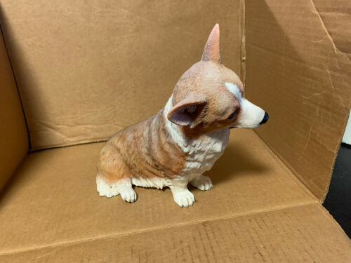 "Vintage Danbury Mint Collectible 10"" CORGI Dog Figure Statue  MINT"