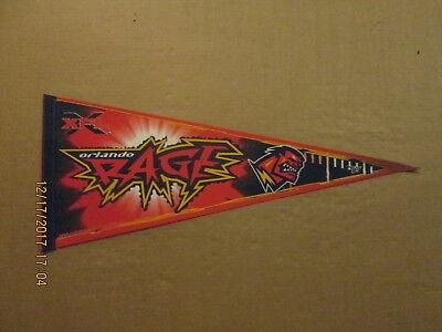 XFL Orlando Rage Vintage Defunct Circa 2000 Logo Football Pennant