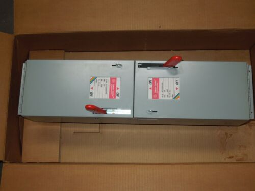 Ge Ads26060hd 60a 600v 1ph 2p Twin Fusible Switch Unit New Surplus