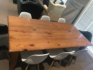 Timber Dining Table plus 8 chairs