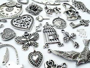 Antique-Silver-tibetan-charms-pendants-VINTAGE-STEAMPUNK-CUTE-JEWELLERY