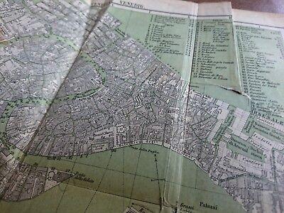 antik Landkarte kleine alte Karte Venedig Venezia Venice um 1880