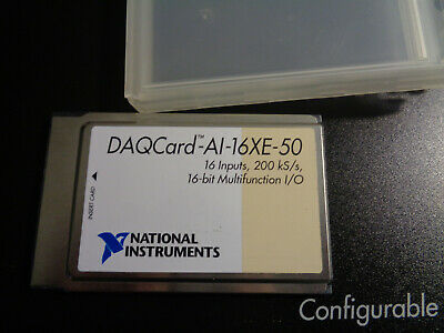 National Instruments Daqcard-al-16xe-50 Ca-1000 Wired And Software