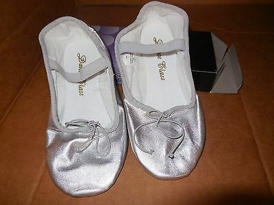 Silver Ballet Shoes by Trimfoot Girls Sizes Medium width Praise Shoes - Girls Silver Ballet Shoes