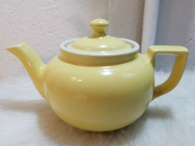 Hall China Canary Yellow Small French Teapot