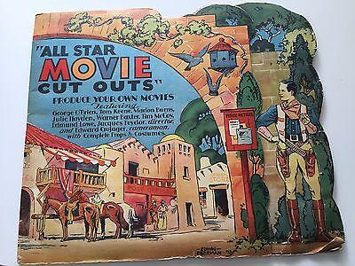 RARE    VINTAGE: ALL STAR MOVIE CUTOUTS Paper Doll Book By Edwin Eberman (1933)