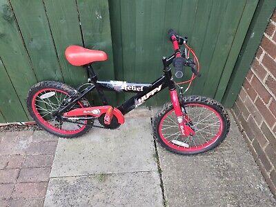 """Huffy Rebel 18"""" Kids Bike - Red & Black"""