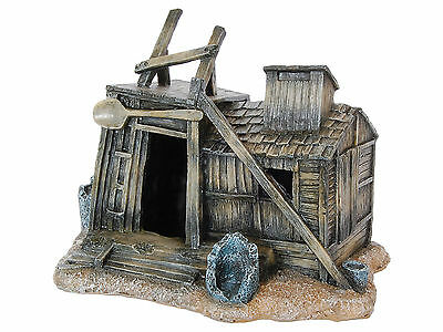 Western Shack Log Cabin Aquarium Decoration Fish Tank Cave Ornament