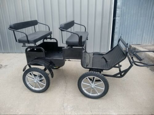 Frontier Equestrian mini - pony size TRAIL BUGGY with brakes & team pole