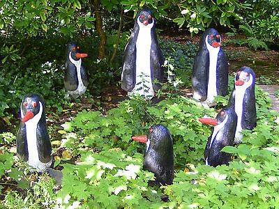 Gartenfiguren aus Beton! UNIKATE! Pinguin - Familie sign. W. Dahmen ; ORIGINAL