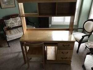Solid wood child's desk