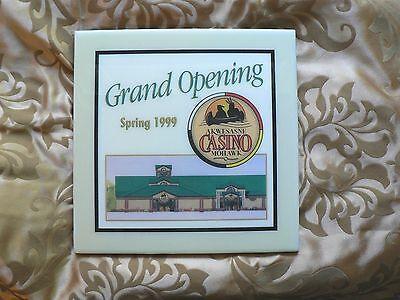 Mohawk Porcelain Tile - AKWESASNE MOHAWK CASINO SPRING 1999 Grand Opening  CERAMIC TILE A.R.T.Co. .
