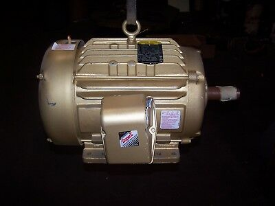 New Baldor 15 Hp Electric Ac Motor 230460 Vac 254t Frame 3520 Rpm 3 Phase