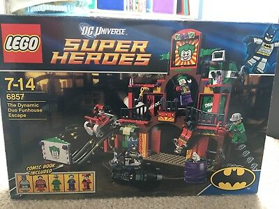 LEGO DC Super Heroes 6857 Dynamic Duo Jokers Funhouse Escape 100% Complete