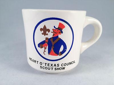 Vintage Boy Scouts Mug Heart O' Texas Council Scout Show