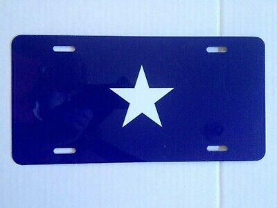 Confederate Flag License Plate (CIVIL WAR BONNIE BLUE CONFEDERATE FLAG METAL LICENSE PLATE NEW 70173)