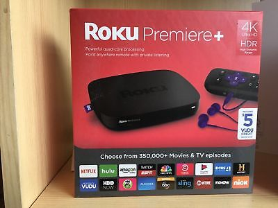 Roku Premiere+ Plus 4K HDR Streaming Media Player 4630R Ultra HD - NEW