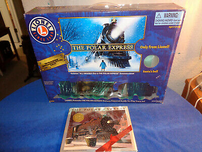 The Polar Express Train Set & Book w/Story On CD and Christmas Ornament
