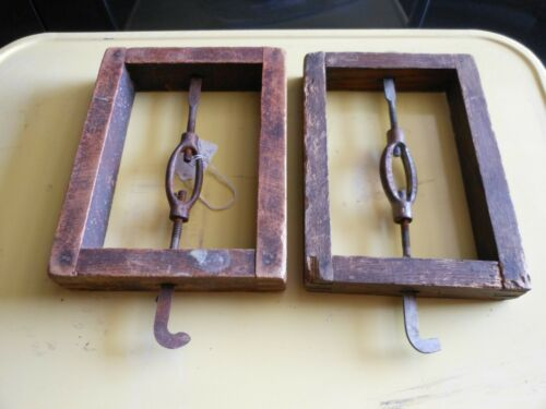 Antique Wood Bed Head Board Frame Spacers/Mattress Spacers