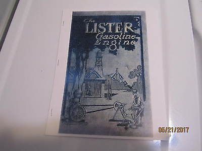 Lister Upright Gas Enginesaws Pumps Info Manual