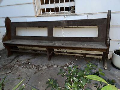 Old Church Pew Vintage Antique Seat Garden Porch Bench