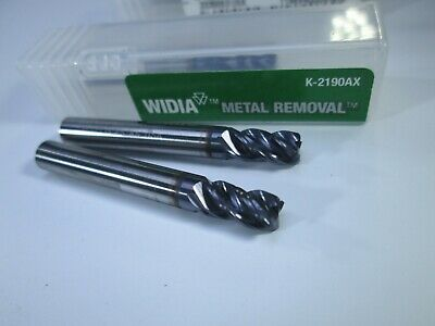 Lot 2 Pcs Widia Carbide End Mills 316 X 38 X 1-12 Roughing Lathe Tools