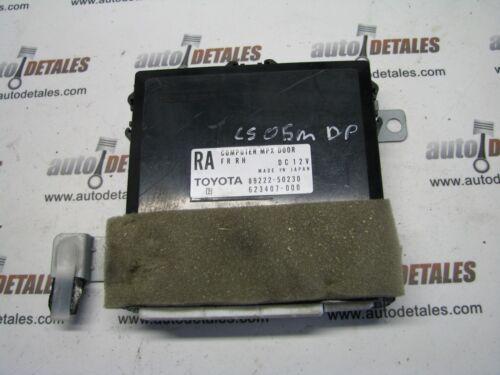 Lexus LS 430 Right Side Mpx Door Computer 89222-50230 used 2005