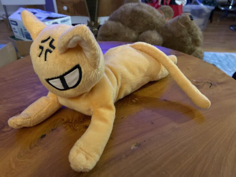 "Fruits Basket Kyo Sohma Cat Laying Down Soft Plush Natsuki Takaya 12"" FUNimation"