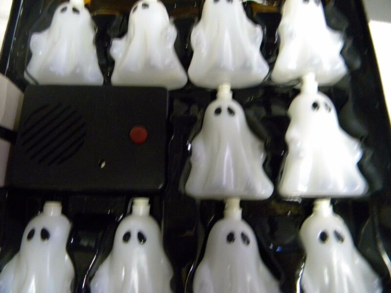 Halloween MUSICAL SOUND AFFECTS GHOST String Lights 10 cnt Battery