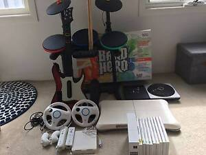 Nintendo Wii Console + Band Hero + Wii Fit + DJ hero + Games Kensington Melbourne City Preview