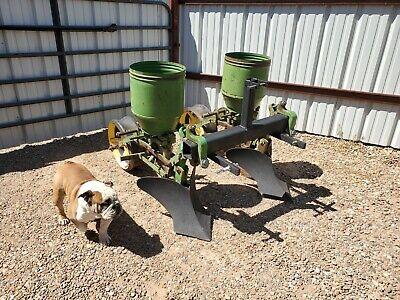 John Deere 2 Row Cat 1 Lister Planter Corn Bean Hemp Milo Game Plot