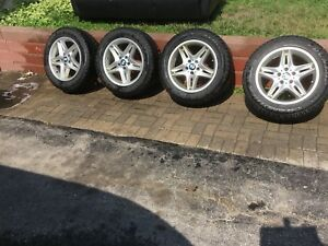 BMW WINTER TIRES AND RIMS X5