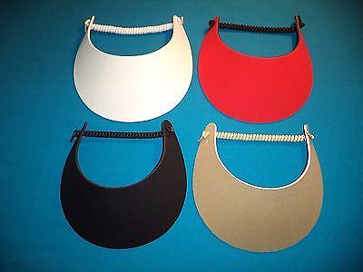 Women Sun Visor Hat, No Headache, 4-Pack, Red White Black Tan or Pick Colors](White Visors Bulk)