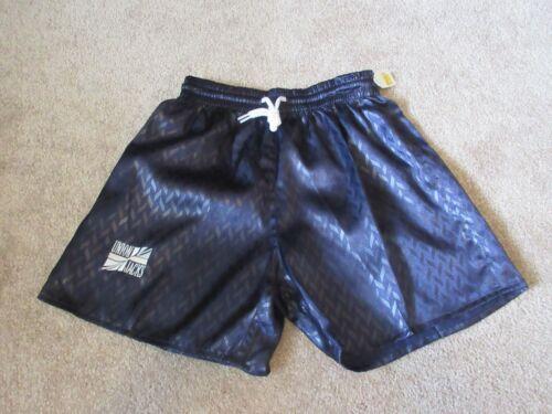 VINTAGE New 80s UNION JACKS Soccer Youth Large YL Blue Shorts 100% Polyester