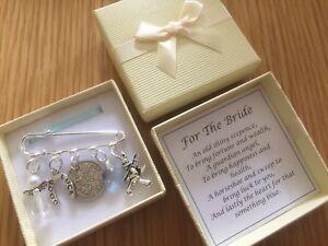 LUCKY SIXPENCE, WEDDING, BRIDE kilt pin, horseshoe, chimney sweep, GIFT BOXED