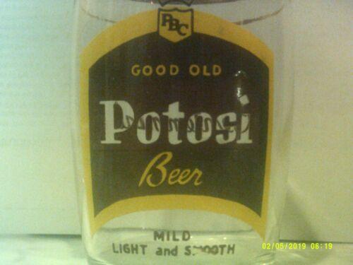 Vintage Potosi Beer Barrel Glass