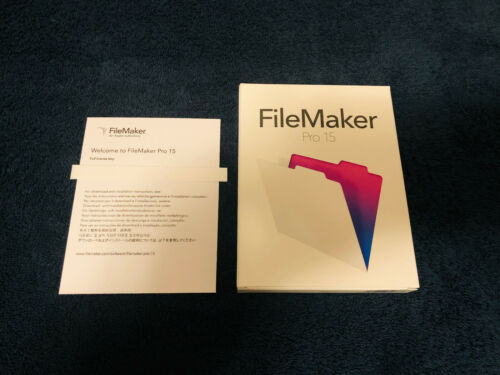 FileMaker Pro 15 License Key Card for Mac & Windows, FULL VERSION, Free Shipping