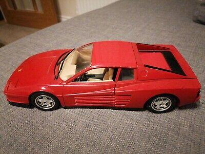 FERRARI TESTAROSSA 1984 1 18 BBURAGO DIE CAST MODEL CAR GOOD FREE UK POST!
