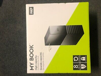 WD 8TB My Book Desktop USB 3.0 External Hard Drive WDBBGB0080HBK-NESN *SHIPS NOW