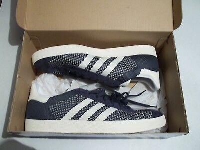 free shipping fe7f1 c283e NIB Adidas Originals Gazelle Men s 13 Primeknit Shoes Nemesis Off White  BY9779