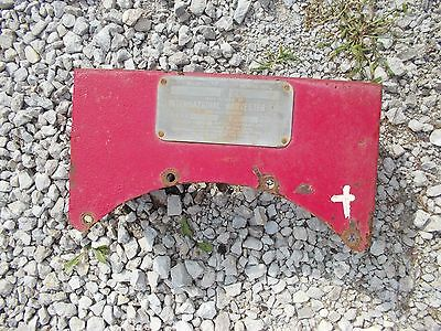 Mccormick Deering F20 Farmall Tractor Tool Box W Serial Tag