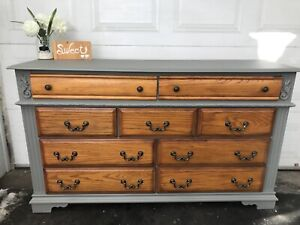 GORGEOUS RUSTIC Dresser 9 drawers-220$