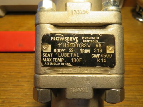 Worcester Controls FLOWSERVE Ball Valve #1 H4466YBSW   R8  Body SS Trim 316