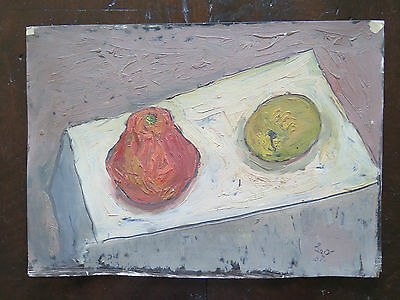 Nature Still 1960's Painting oil On Board Signed Original p16